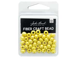 craft & hobbies: John Bead Fiber Craft Beads 7.5 mm Opaque Yellow Luster