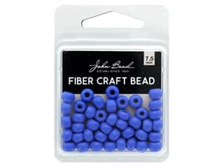 John Bead Fiber Craft Beads 7.5 mm Opaque Light Royal Blue