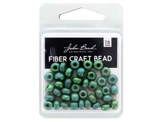 beading & jewelry making supplies: John Bead Fiber Craft Beads 7.5 mm Opaque Grass Green AB