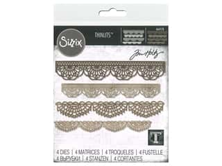 Sizzix Tim Holtz Thinlits Die Set 4 pc. Crochet