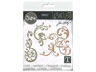 Sizzix Tim Holtz Thinlits Die Set 3 pc. Adorned