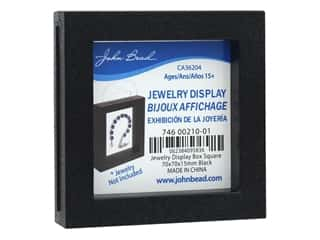 beading & jewelry making supplies: John Bead Jewelry Display Box 70 x 70 x 15 mm Black