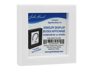 John Bead Jewelry Display Box 70 x 70 x 15 mm White