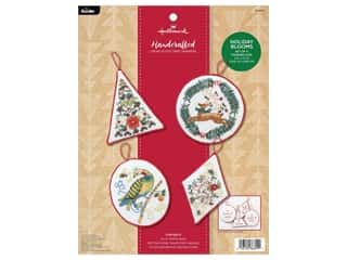 projects & kits: Bucilla Cross Stitch Kit Hallmark Snow Globes Tree Trimmers 4 pc
