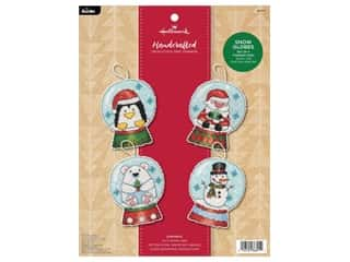 projects & kits: Bucilla Cross Stitch Kit Hallmark Holiday Blooms Tree Trimmers 4 pc