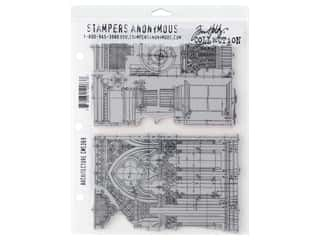 Stampers Anonymous Tim Holtz Cling Mount Stamp Set - Architecture