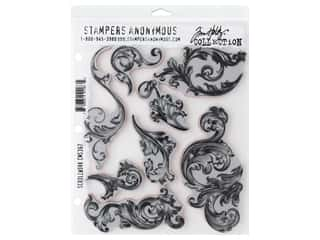 Stampers Anonymous Cling Mount Stamp Tim Holtz Scrollwork