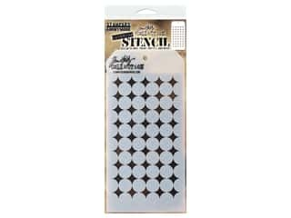 craft & hobbies: Stampers Anonymous Tim Holtz Layering Stencil - Shifter Burst