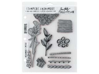 scrapbooking & paper crafts: Stampers Anonymous Cling Mount Stamp Tim Holtz Media Marks #1