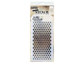 craft & hobbies: Stampers Anonymous Tim Holtz Layering Stencil - Gradient Hex