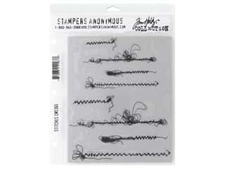 scrapbooking & paper crafts: Stampers Anonymous Tim Holtz Cling Mount Stamp Set - Stitches