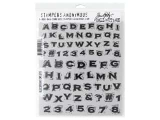 scrapbooking & paper crafts: Stampers Anonymous Cling Mount Stamp Tim Holtz Blockprint