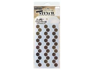 craft & hobbies: Stampers Anonymous Tim Holtz Layering Stencil - Shifter Hex