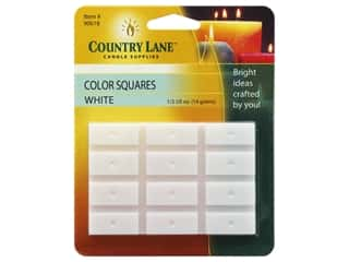 candle color: Country Lane Candle Dye Color Squares 1/2 oz White