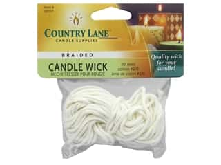 Country Lane Candle Wicks 2/0 Braided 20 ft.