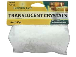 candle accessories: Country Lane Candle Translucent Crystals 4 oz