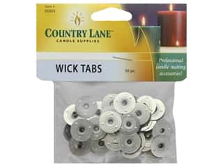 candle wax: Country Lane Wick Tab 50 pc