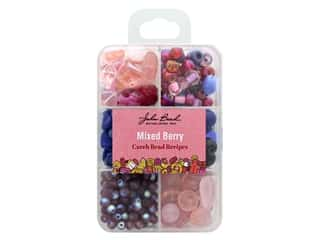 projects & kits: John Bead Czech Bead Recipe Box - Mixed Berry