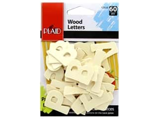 Plaid Wood Bold Letters 1.25 in. 60 pc