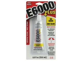 glues, adhesives & tapes: Eclectic Adhesive E6000 Plus No Odor .9oz Crystal Clear