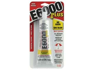 glues, adhesives & tapes: Eclectic Adhesive E6000 Plus No Odor 1.9oz Crystal Clear