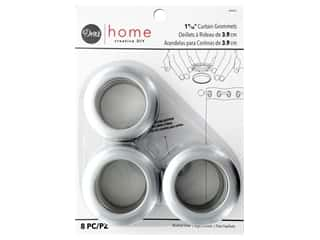 Dritz Home Curtain Grommets 1 9/16 in Round Brushed Silver 8 pc