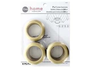 Dritz Home Curtain Grommets 1 9/16 in.  Round Brass 8 pc