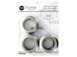 Dritz Home Curtain Grommets 1 9/16 in. Round Pewter 8 pc.