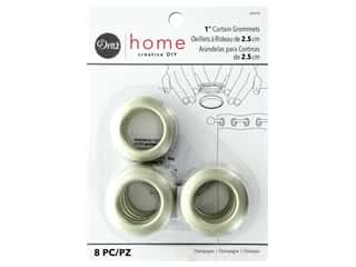 Dritz Home Curtain Grommets 1 in. Round Champagne 8 pc