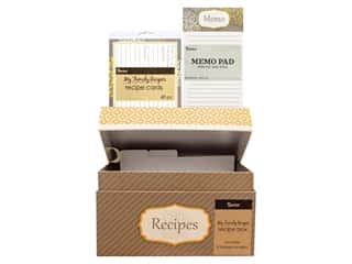 Darice Recipe Box Set Yellow Floral