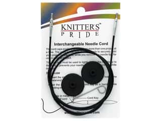yarn & needlework: Knitter's Pride Interchangeable Needle Cord Black/Silver 40 in.