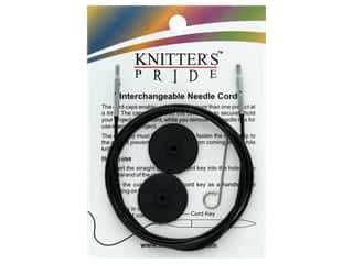 Knitter's Pride Interchangeable Needle Cord Black/Silver 47 in.