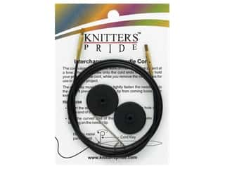 yarn & needlework: Knitter's Pride Interchangeable Needle Cord Black/Gold 47 in.