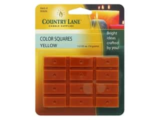 craft & hobbies: Country Lane Candle Dye Color Squares 1/2 oz Yellow