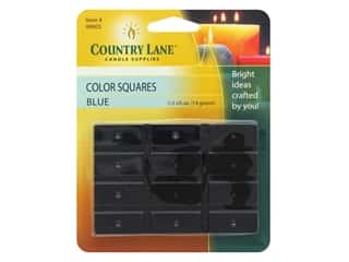 candle will tab: Country Lane Candle Dye Color Squares 1/2 oz Blue