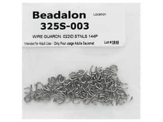 twine: Beadalon Wire Guardian .022 in. Stainless Steel 144 pc (3 pieces)