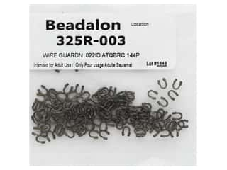 beading & jewelry making supplies: Beadalon Wire Guardian .022 in. Antique Brass 144 pc (3 pieces)