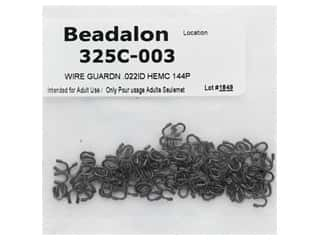beading & jewelry making supplies: Beadalon Wire Guardian .022 in. Hematite 144 pc (3 pieces)