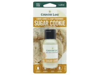 candle scent: Country Lane Scent Liquid Candle & Soap Fragrance Sugar Cookie 1 oz