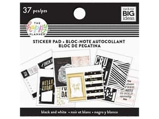 Me&My Big Ideas Happy Planner Sticker Pad Tiny Black & White