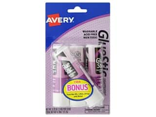glues, adhesives & tapes: Avery Glue Stick .26 oz. 3 pc. Disappearing Color Permanent