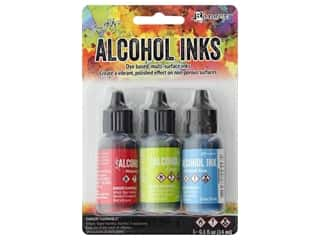 Tim Holtz Alcohol Ink by Ranger .5 oz. Dockside Picnic Set 3 pc.