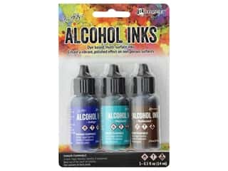 Tim Holtz Alcohol Ink by Ranger .5 oz. Mariner Set 3 pc.