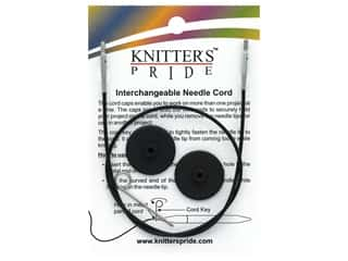 Knitter's Pride Interchangeable Needle Cord Black/Silver 24 in.
