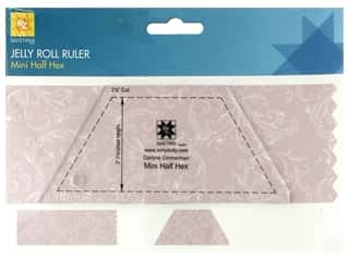 EZ Tools Jelly Roll Ruler Half Hex Mini