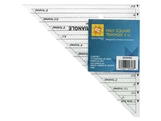 EZ Tools Acrylic Ruler Half Square Triangle 6 in.