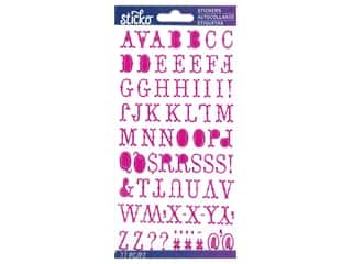 EK Sticko Stickers ABC Small Hoedown Iridescent Magenta