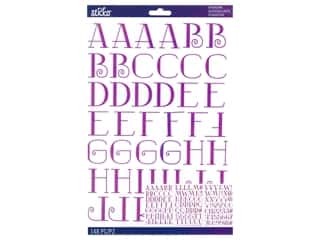 scrapbooking & paper crafts: EK Sticko Stickers ABC Large Nostalgic Iridescent Lavender