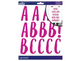 Sticko Alphabet Stickers - XL Le Gourmet Iridescent Magenta