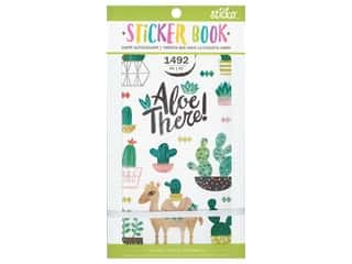 EK Sticko Stickers Book Watercolor Succulent
